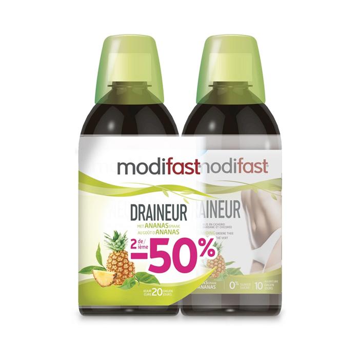 Image of Modifast Draineur Ananas 2x500ml Promo 2de -50%