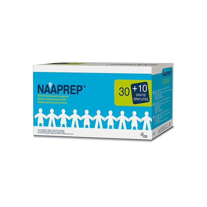 Image of Naaprep Fysiologisch Water 5ml Promo 30+10 Ampoules GRATIS