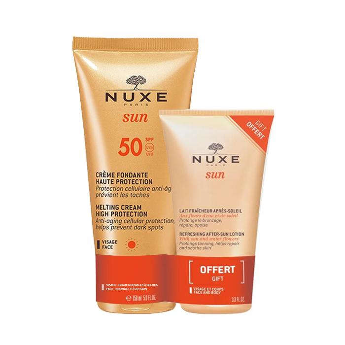 Image of Nuxe Sun Promopack Smeltzachte Crème SPF50 Gezicht 50ml + GRATIS Verfrissende Aftersun Gelaat/ Lichaam 50ml