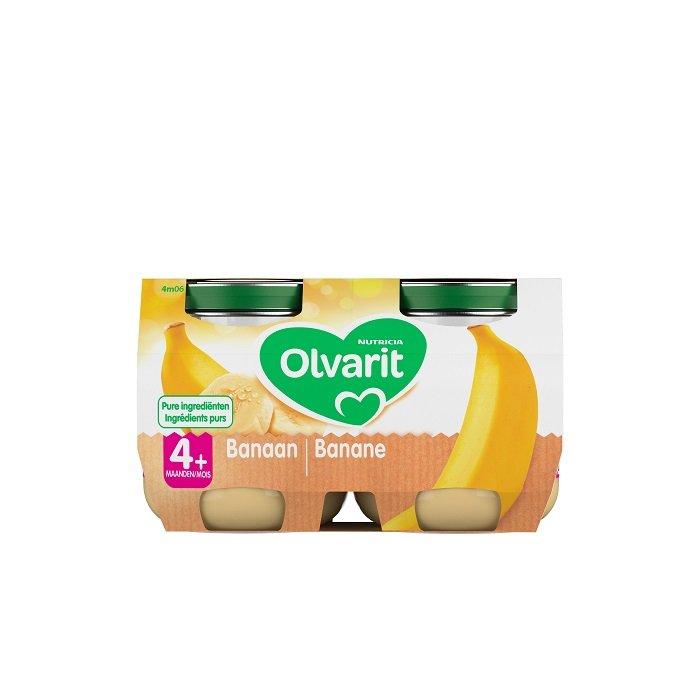 Image of Olvarit Fruitpotje Banaan 4M+ 2x125g
