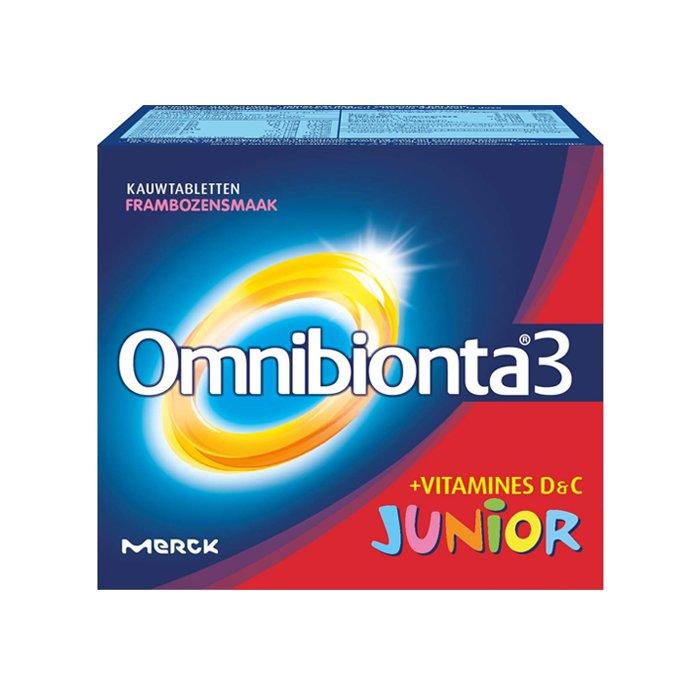 Image of Omnibionta3 Junior Framboos 30 Kauwtabletten