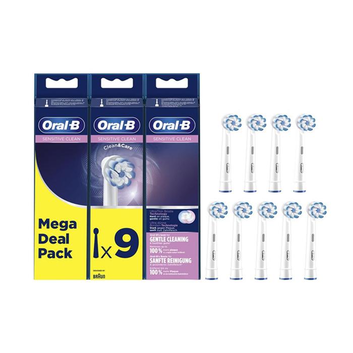 Image of Oral-B EB60 Sensitive Clean Opzetborstels Promopack 9 Stuks