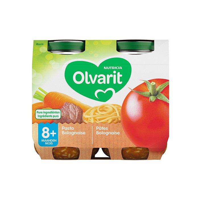 Image of Olvarit Pasta Bolognaise 8M+ 2x200g