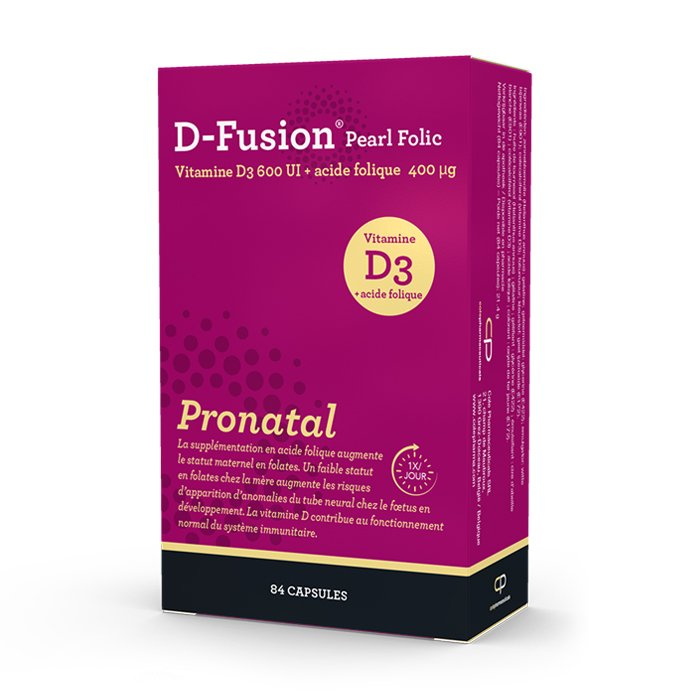 Image of D-Fusion Pearl Folic Pronatal 84 Capsules