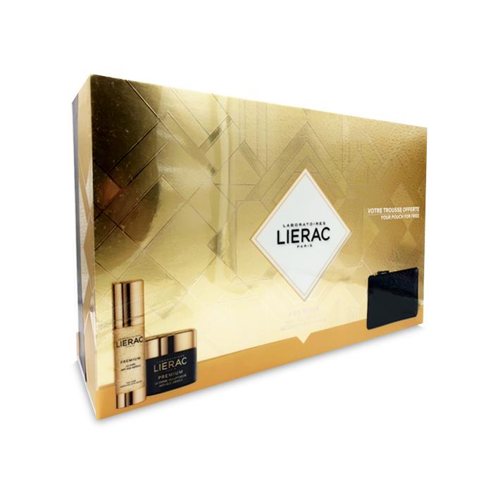 Image of Lierac Geschenkkoffer Premium La Crème Voluptueuse 50ml + Premium La Cure 30ml + GRATIS Opbergtasje