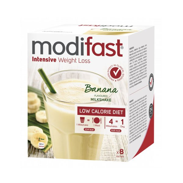 Image of Modifast Intensive Milkshake Banaan 8x55g