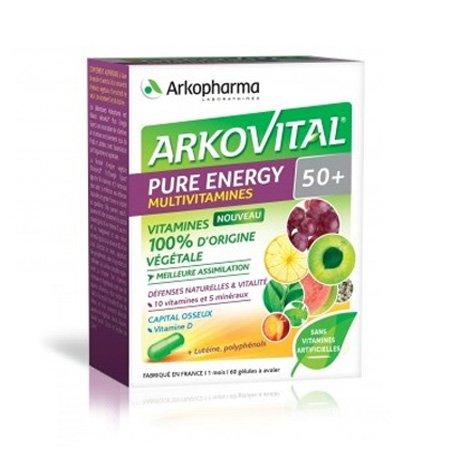 Image of Arkovital Pure Energy 50+ 60 Capsules