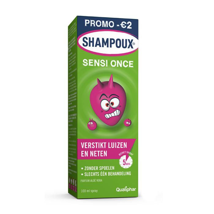 Image of Shampoux Sensi Once Anti-Luizen/ Neten Spray 100ml + Luizenkam Promo - €2