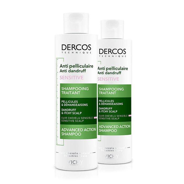 Image of Vichy Dercos Anti-Roos Shampoo Gevoelige Hoofdhuid Duo Promo 2e -50% 2x200ml