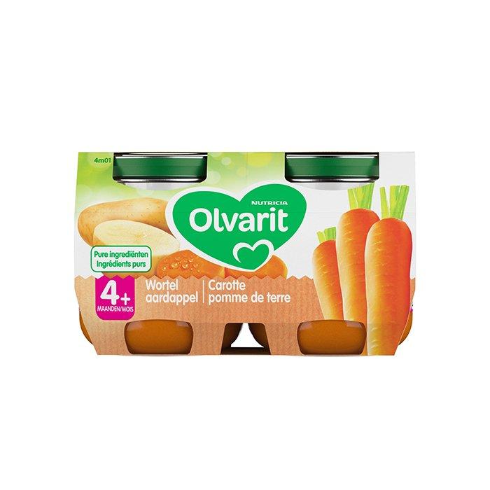 Image of Olvarit Maaltijd Wortel/ Aardappel 4M+ 2x125g