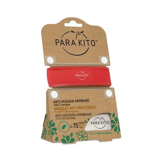 Image of Para'kito Anti-Muggen Armband Rood + 2 Navullingen