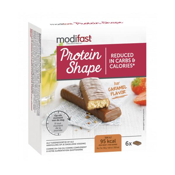 Image of Modifast Protein Shape Reep Melkchocolade/ Karamel 6x27g