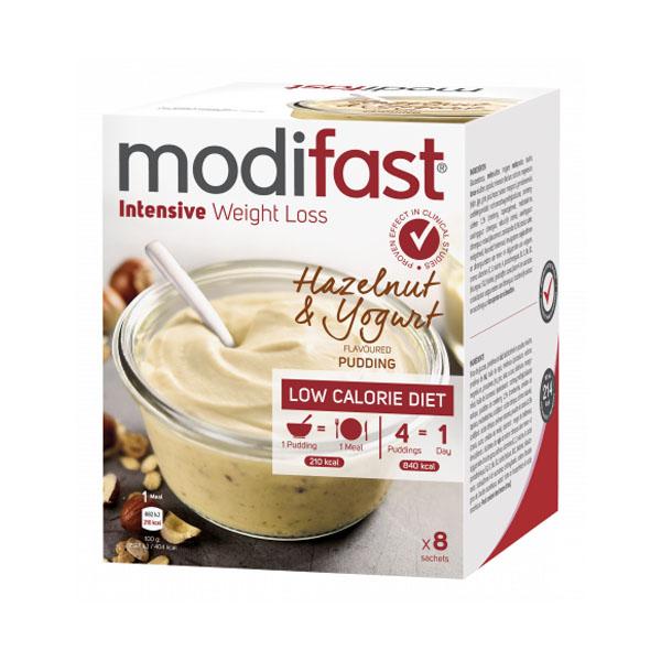 Image of Modifast Intensive Pudding Yoghurt Hazelnoot 8x52g