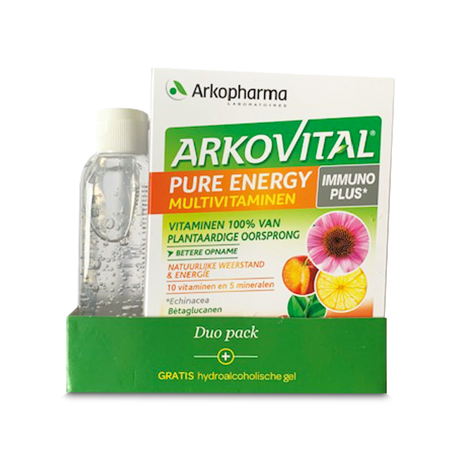 Image of Arkovital Pure Energy Duopack 60 Tabletten + GRATIS Pure Clean Hydroalcoholische Gel 100ml