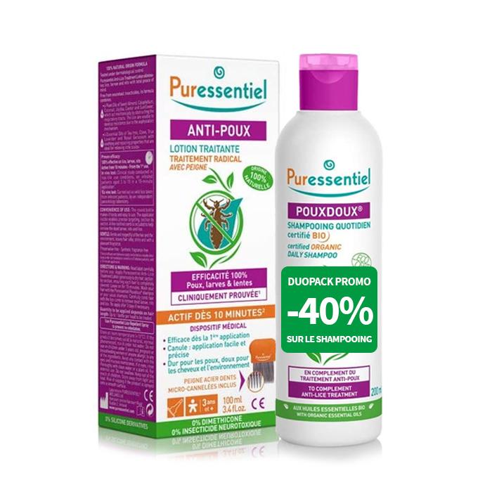 Image of Puressentiel Anti-Luizen Duopack Shampoo 200ml -40% + Lotion 100ml