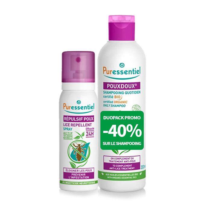 Image of Puressentiel Anti-Luizen Duopack Shampoo 200ml -40% + Luizen Repel Spray 75ml
