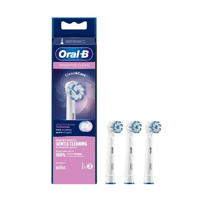 Image of Oral-B EB60 Sensitive Clean Opzetborstel 3 Stuks