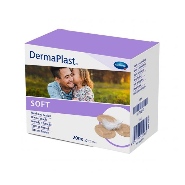 Image of Dermaplast Soft 22mm Ronde Pleisters 200 Stuks