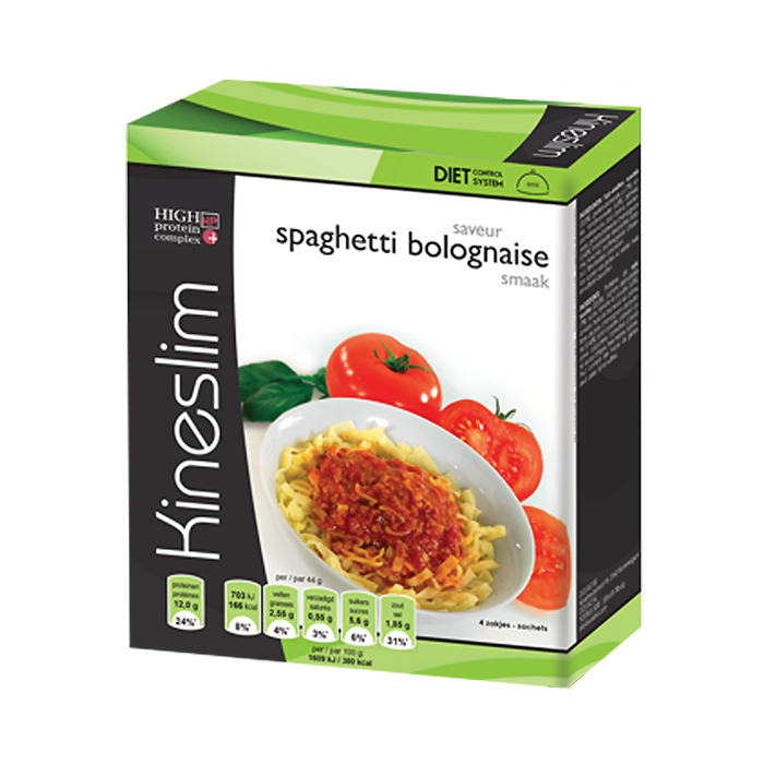 Image of Kineslim Spaghetti Bolognaise Poeder 4 Zakjes