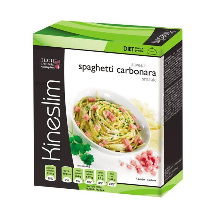 Image of Kineslim Spaghetti Carbonara Poeder 4 Zakjes