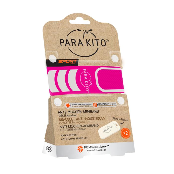 Image of Para'kito Anti-Mug Armband Sport Roze + 2 Vullingen