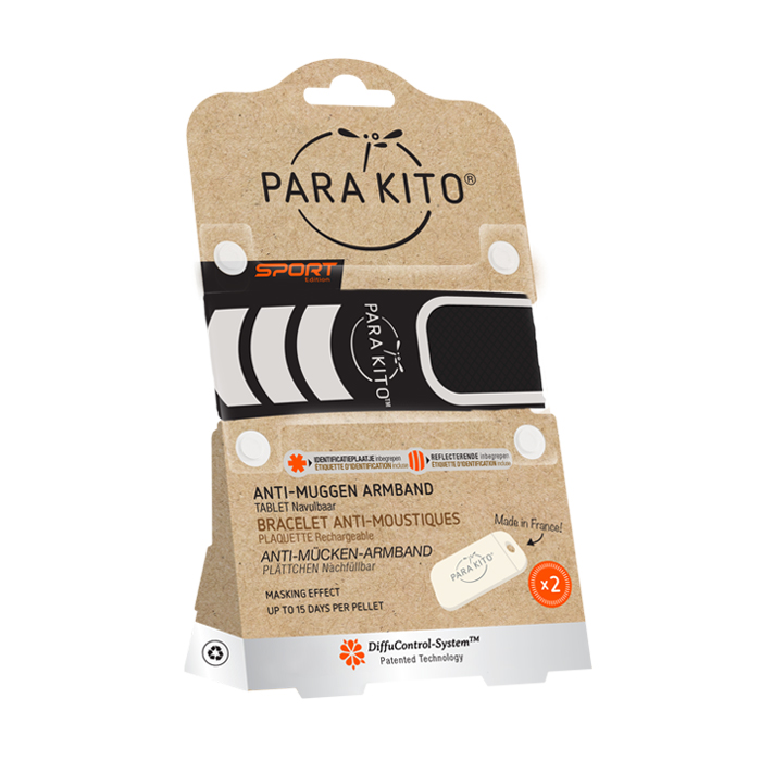 Image of Para'kito Sport Zwart Armband + 2 Vullingen