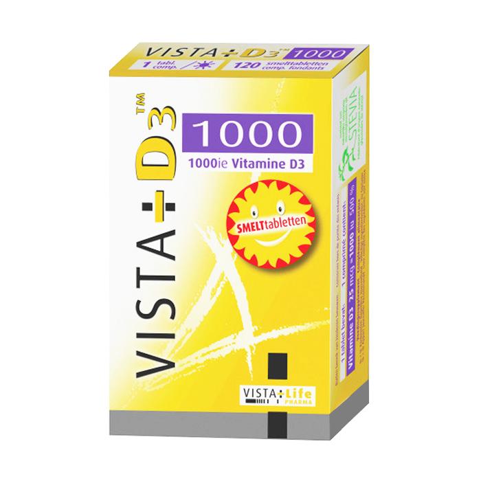 Image of Vista-D3 1000 120 Smelttabletten