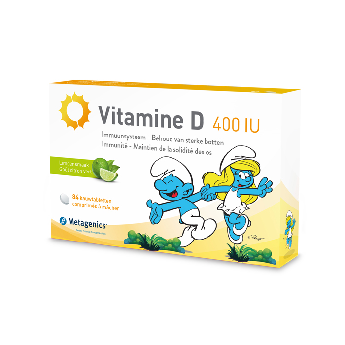 Image of Metagenics Vitamine D 400IU Smurfen 84 Kauwtabletten