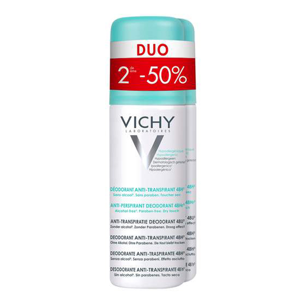 Image of Vichy Deodorant Spray Intense Transpiratie 48u Promo Duo 2e -50% 2x125ml